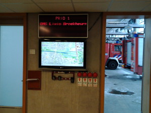 Deployment from Station Enschede with RESC.Info.monitor in changing area